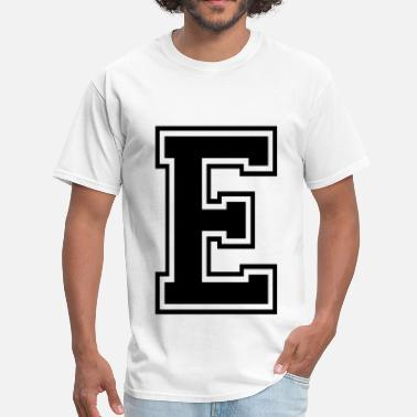 Letters Of The Alphabet Letter E - Men's T-Shirt