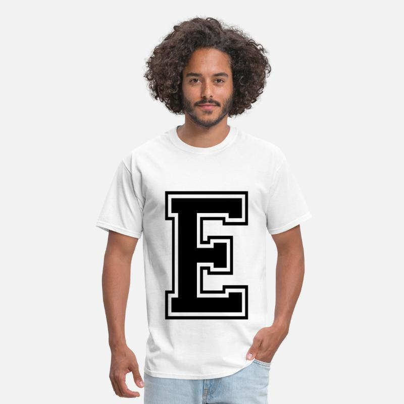Alphabet T-Shirts - Letter E - Men's T-Shirt white