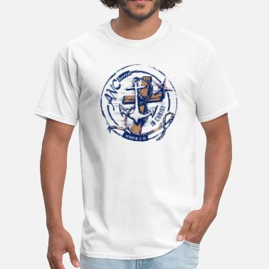Nadia ANChored in Christ Logo HR II - Men's T-Shirt