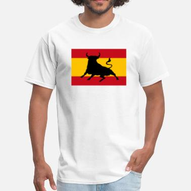 Spanish Bull Spanish flag with bull - Men's T-Shirt