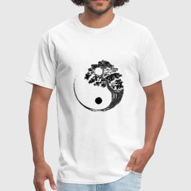 bonzai yin yang tree - Men's T-Shirt