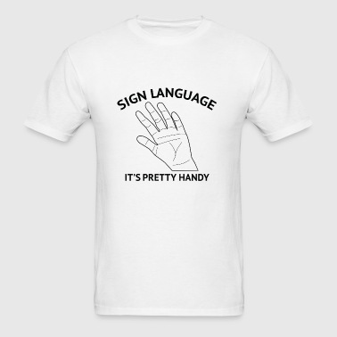 Sign Language - Men's T-Shirt