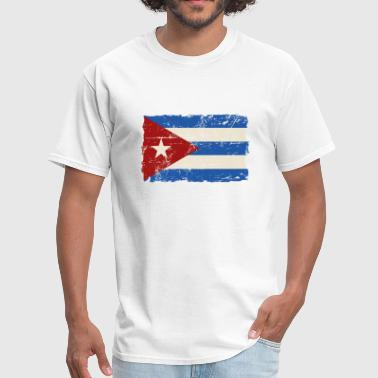 Cuba Flag Cuba Flag - Vintage Look  - Men's T-Shirt
