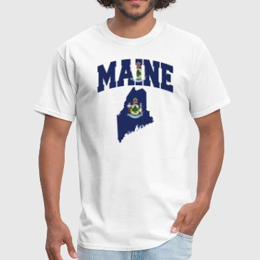 Maine Flag Map - Men's T-Shirt