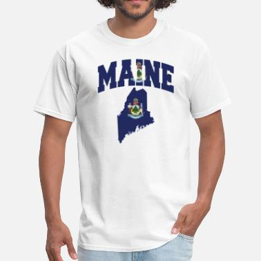 Maine Flag Maine Flag Map - Men's T-Shirt