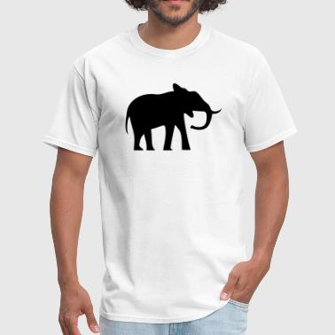 Elephant Silhouette - Men's T-Shirt
