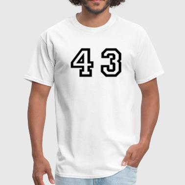 43 Birthday Number - 43 - Forty Three - Men's T-Shirt