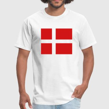 Denmark- Danish flag with correct dimensions - Men's T-Shirt