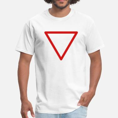 Yield Sign Yield warning sign rounded - Men's T-Shirt