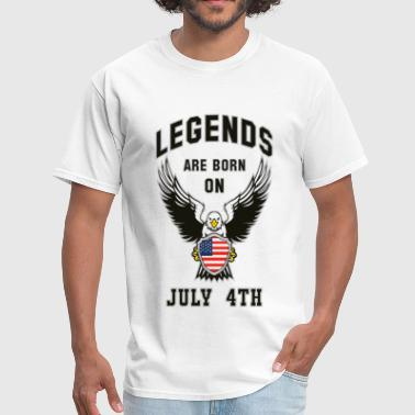 Legends are born on July 4th - Men's T-Shirt
