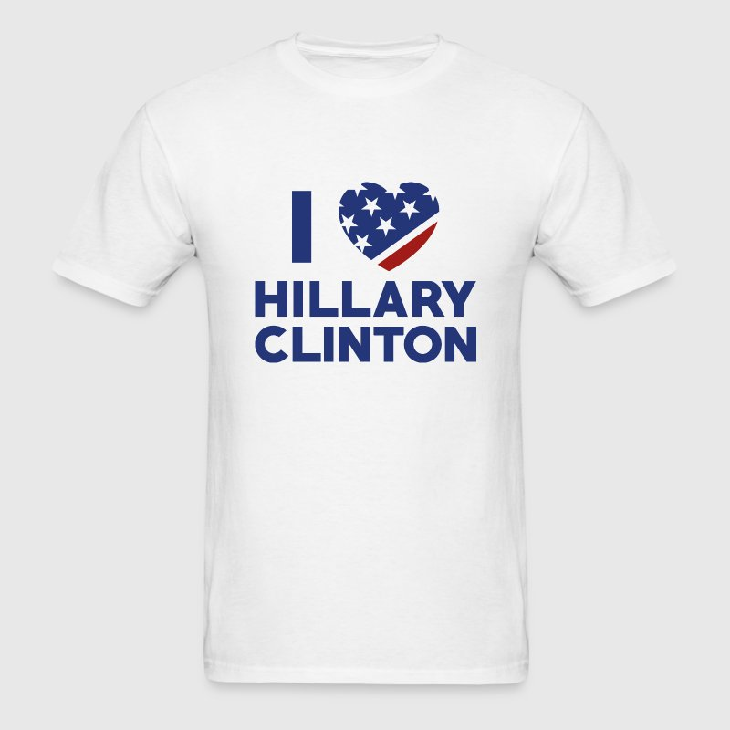 I Love Hillary Clinton - Men's T-Shirt