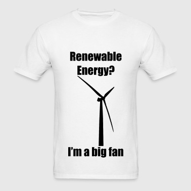 Renewable Energy (Black) - Men's T-Shirt