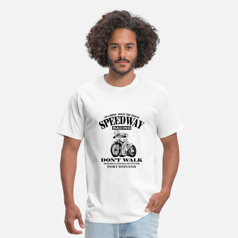 Motorcycle T-Shirts - Motorcycle Speedway - Dirt Track Racing - Men's T-Shirt white