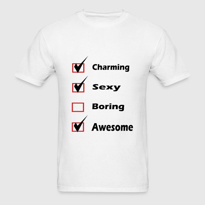 Self Check - Charming, Sexy, Awesome - Men's T-Shirt