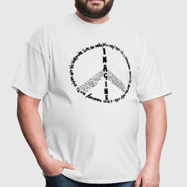 Imagine Peace - Men's T-Shirt