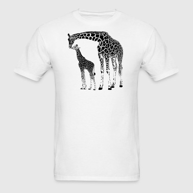 AfricanGiraffe with sibling - Men's T-Shirt