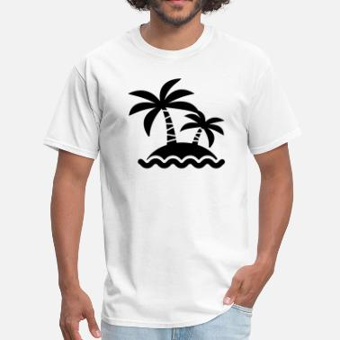 Island Palm Trees Palm Tree Island Silhouette - Men's T-Shirt