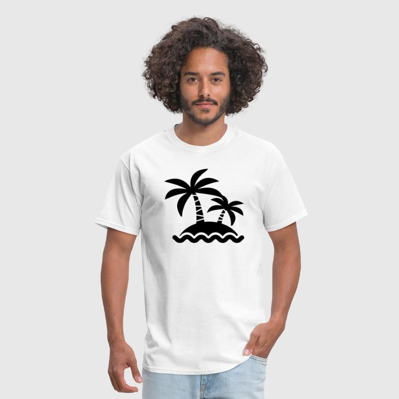Palm Tree Island Silhouette - Men's T-Shirt