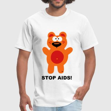 Stop Fuck You Fuck Fight Aids HIV Bear Statement Shirt Stop - Men's T-Shirt