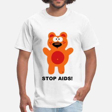 Hiv Aids Fuck Fight Aids HIV Bear Statement Shirt Stop - Men's T-Shirt