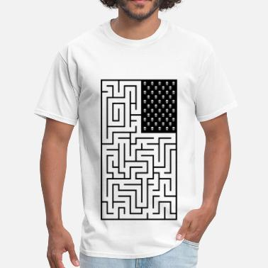 Capital Steez Maze style Pirate Flag - Men's T-Shirt