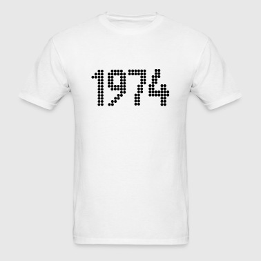 1974, Numbers, Year, Year Of Birth - Men's T-Shirt