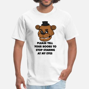 Fnaf Eyes boobs freddy top - Men's T-Shirt