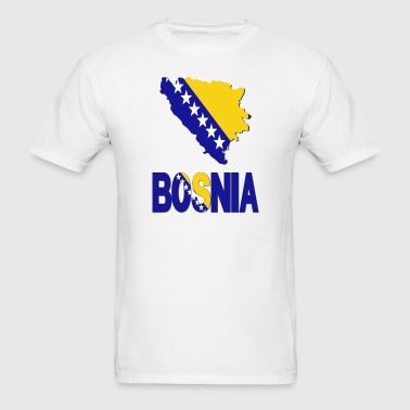 Bosnia Flag Map - Men's T-Shirt