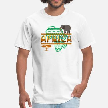 African Wildlife Safari African Safari Elephant - Men's T-Shirt