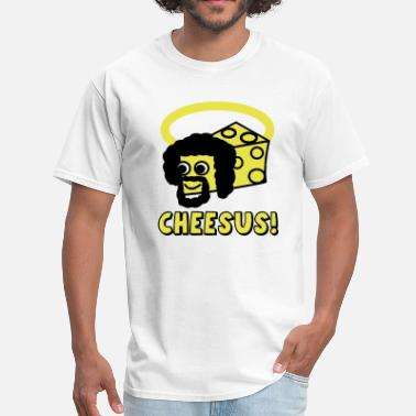 Jesus Provocative Cheesus / Jesus Parody - Men's T-Shirt