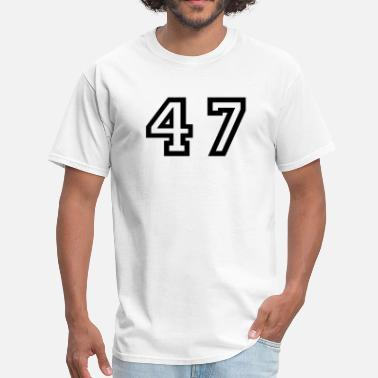 Number 47 Number - 47 - Forty Seven - Men's T-Shirt