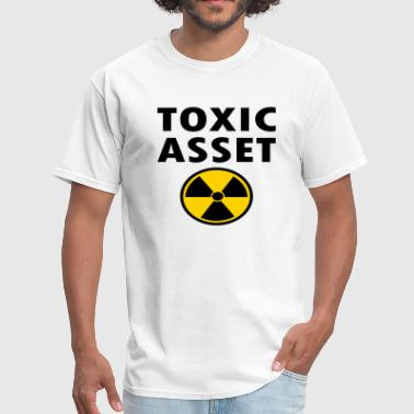 Toxic Asset With Hazardous Waste Symbol - Men's T-Shirt