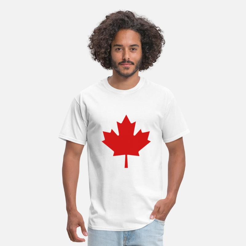 Canadian T-Shirts - Red Maple Leaf - Men's T-Shirt white