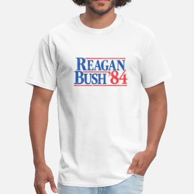 Vintage Presidential Election Reagan Bush '84 - Men's T-Shirt