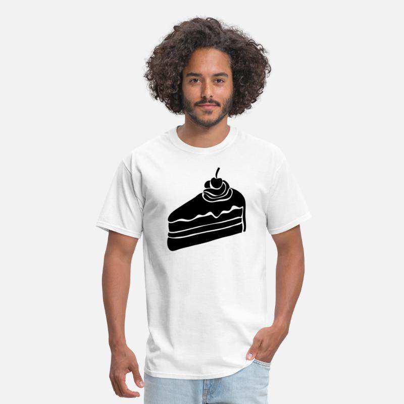 Cake T-Shirts - Cake Slice Silhouette - Men's T-Shirt white