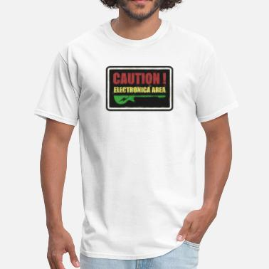 Electronica ‏‏Caution Electronica - Men's T-Shirt