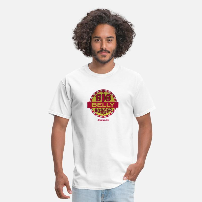 Big T-Shirts - Big Belly Burger - Men's T-Shirt white
