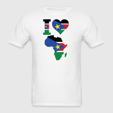Africa Map South Sudan - Men's T-Shirt