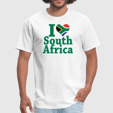 I Love South Africa Flag - Men's T-Shirt
