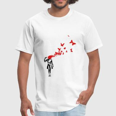 Banksy Banksy banksy butterlies - Men's T-Shirt