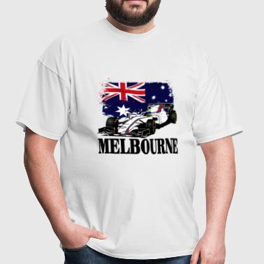 Formula One - Formula 1 - Australia Flag - Men's T-Shirt