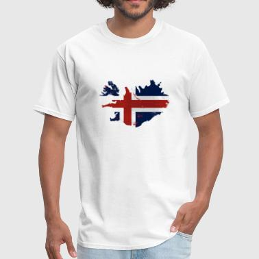 Iceland Flag Map - Men's T-Shirt