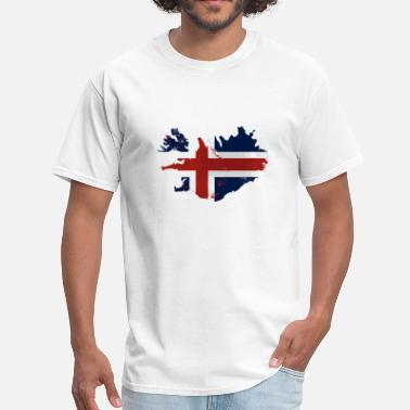 Reykjavik Iceland Flag Map - Men's T-Shirt