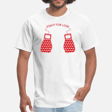 Valentine's Day Fight for Love - Men's T-Shirt