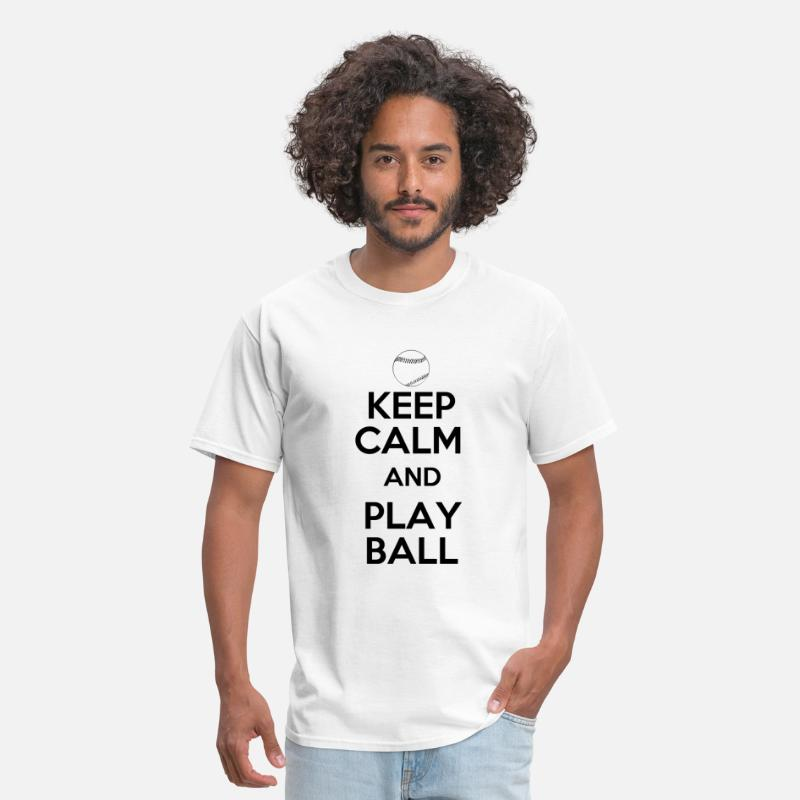 Ball T-Shirts - Keep Calm and Play Ball - Men's T-Shirt white