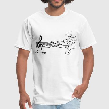 Music Note Music - Men's T-Shirt