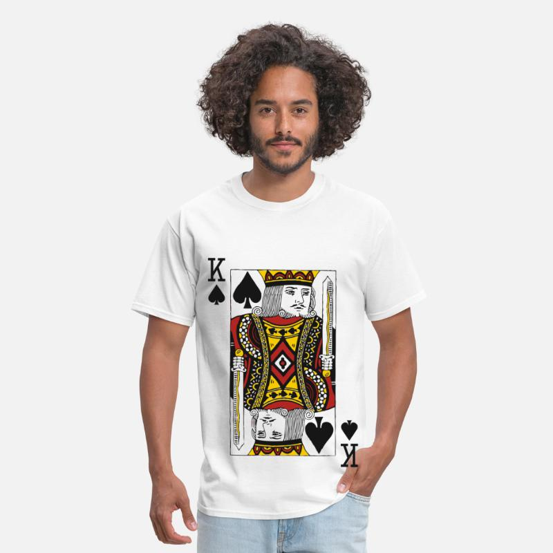 King T-Shirts - King of Spades - Men's T-Shirt white