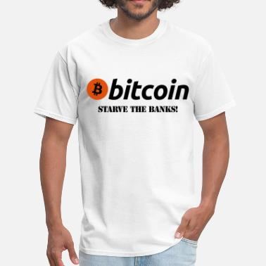 Power-bank Bitcoin Starve The Banks - Men's T-Shirt