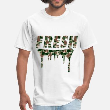 Camo Fresh Woodlands Camo - Men's T-Shirt