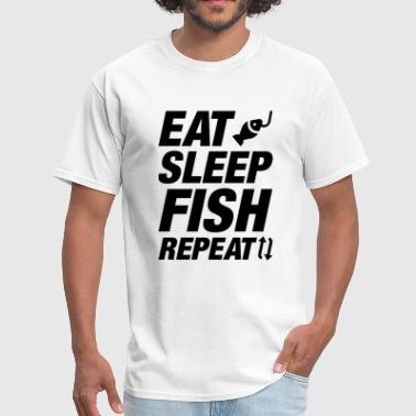 Addicted To Bass Fishing Eat Sleep Fish Repeat - Men's T-Shirt